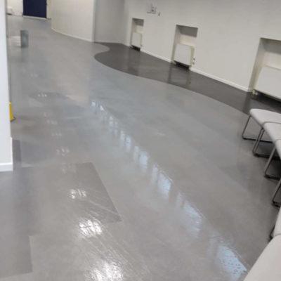 Pavimento in marmo per centro commerciale